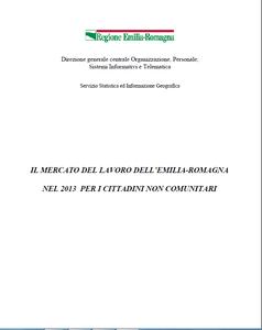 Il mercato del lavoro 2013 per i cittadini non comunitari dell'Emilia-Romagna