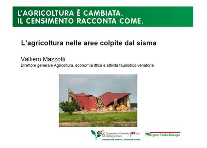 L'agricoltura nelle aree colpite dal sisma
