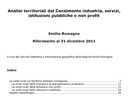 Analisi territoriali dal Censimento industria, servizi, istituzioni pubbliche e non profit