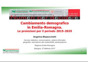 Cambiamento demografico in Emilia-Romagna. Le proiezioni per il periodo 2015-2035