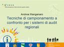 Tecniche di campionamento a confronto per i sistemi di audit regionali