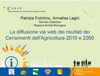La diffusione via web dei risultati dei Censimenti dell'Agricoltura 2010 e 2000