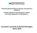 Consumi e povertà in Emilia-Romagna