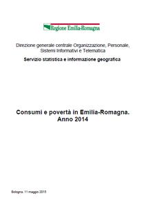 Consumi e povertà in Emilia-Romagna.  Anno 2014