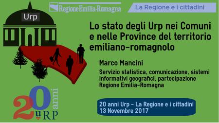 Lo stato degli Urp nei Comuni e nelle Province del territorio emiliano-romagnolo
