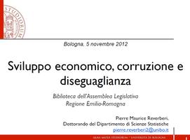 Sviluppo economico, corruzione e diseguaglianza