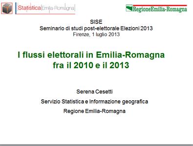I flussi elettorali in Emilia-Romagna fra il 2010 e il 2013