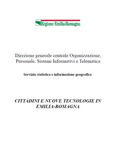 Cittadini e nuove tecnologie in Emilia-Romagna