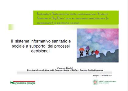 Il sistema informativo sanitario e sociale a supporto dei processi decisionali