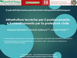 Infrastrutture tecniche per il posizionamento e il coordinamento per la protezione civile