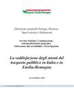La soddisfazione degli utenti del trasporto pubblico in Italia e in Emilia-Romagna