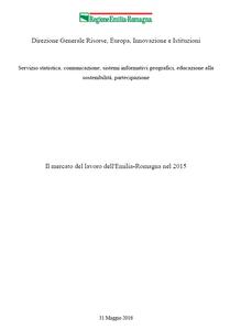 Il mercato del lavoro dell'Emilia-Romagna nel 2015