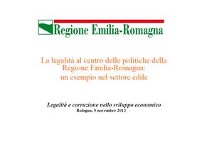 La legalità al centro delle politiche della Regione Emilia-Romagna: un esempio nel settore edile