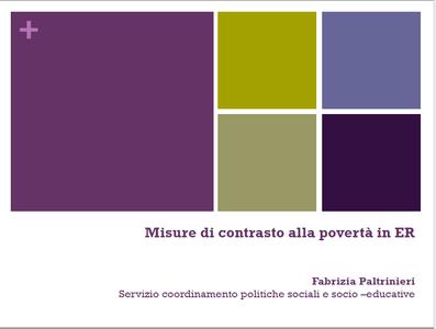 Misure di contrasto alla povertà in Emilia-Romagna