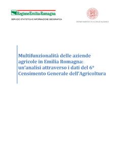 Multifunzionalità delle aziende agricole in Emilia Romagna: un'analisi attraverso i dati del 6° Censimento Generale dell'Agricoltura