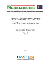 Osservatorio regionale del sistema abitativo. Rapporto 2015