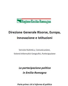 La partecipazione politica in Emilia-Romagna. Parte 1a