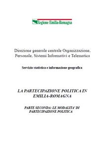 La partecipazione politica in Emilia-Romagna. Parte 2a