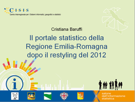Il portale statistico della Regione Emilia-Romagna dopo il restyling del 2012