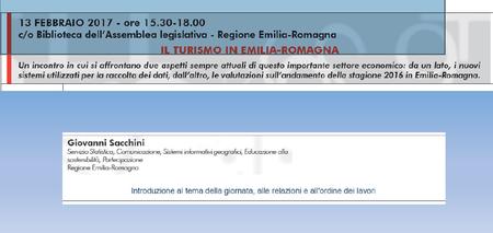 """Presentazione """"Il turismo in Emilia-Romagna"""""""