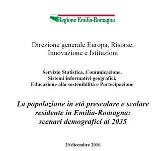 La popolazione in età prescolare e scolare residente in Emilia-Romagna:  scenari demografici al 2035