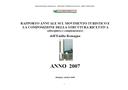 Rapporto annuale sul movimento turistico e la composizione della struttura ricettiva (alberghiera e complementare) - Anno 2007