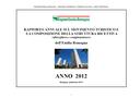 Rapporto annuale sul movimento turistico e la composizione della struttura ricettiva (alberghiera e complementare) - Anno 2012