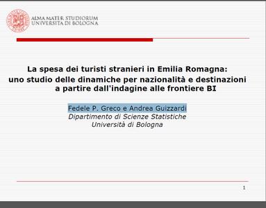 La spesa dei turisti stranieri: uno studio sulle dinamiche per nazionalità e destinazione a partire dall'indagine delle frontiere BI