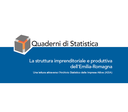 La struttura imprenditoriale e produttiva dell'Emilia-Romagna. Anno 2010