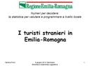 I turisti stranieri in Emilia-Romagna
