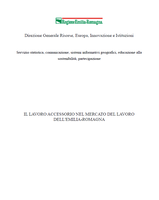 Il lavoro accessorio nel mercato del lavoro dell'Emilia-Romagna