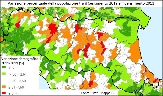 Fonte Istat - Mapper GIS http://gis.censimentopopolazione.istat.it/